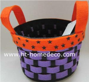 Promotion Gift Halloween Holiday Weaved Felt Basket