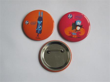 Promotion Gifts Tin Plate Badge With Customized Design