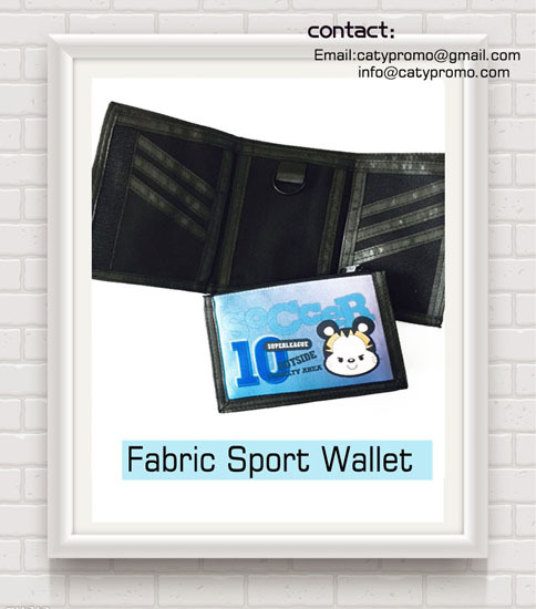 Promotional Good Price Polyster Fabric Sports Wallet