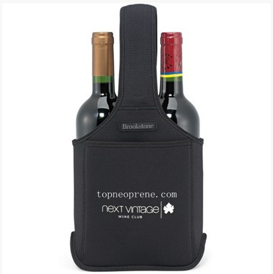 Promotional Neoprene Custom Wine Caddy Bottle Bag Cooler Tote