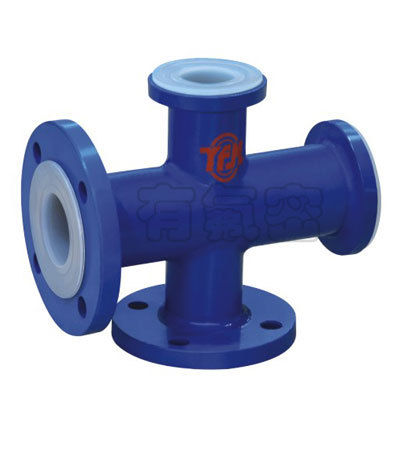Ptfe Lined Cross Pipe Fitting