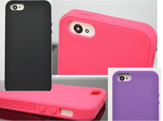 Pure Color Silicone Case For Iphone 5