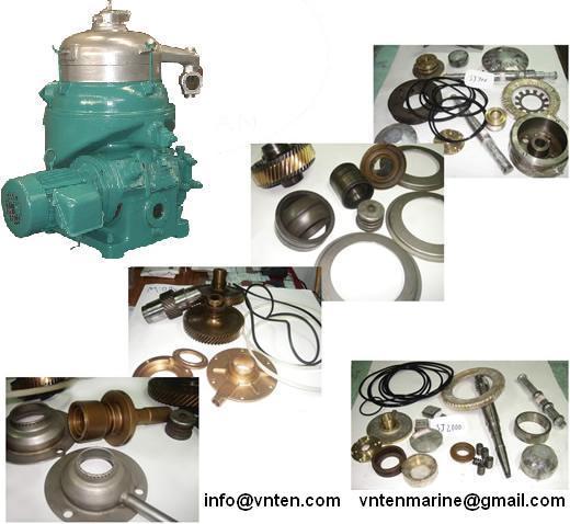 Purifier And Clarifier Parts Alfa Laval Westfalia Mitsubishi