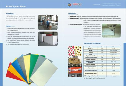 Pvc Free Foam Baord Shanghai Manufacturer Goldensign