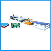 Pvc Wavy Board Trapezoidal Production Line Plastic Extruder Extrusion
