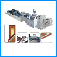 Pvc Window Sill Production Line Wood Extrusion Profile Extruder