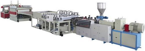 Pvc Wood Plastic Skinning Foam Board Production Line