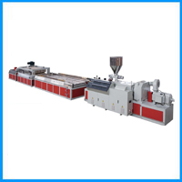 Pvc Wood Plastic Wide Door Board Extrusion Line Profile Production