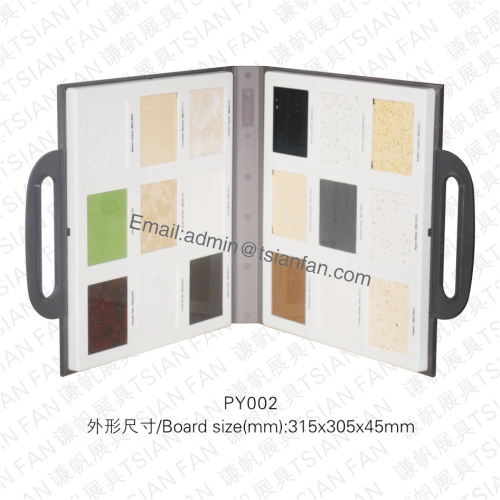 Py002 Plastic Stone Tile Sample Showing Case
