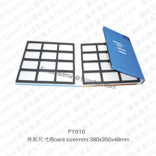 Py010 Colorful Cardboard Granite Stone Sample Book