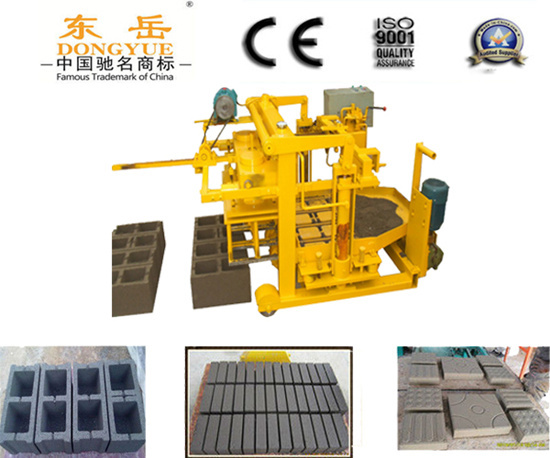 Qt40 3a Moving Concrete Block Making Machine