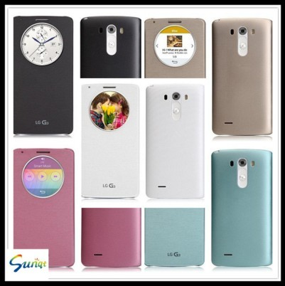 Quik Window Smart Leather Case For Lg G3