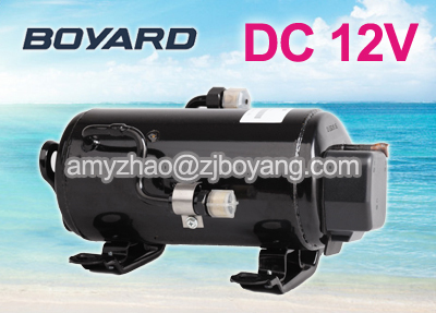 R134a Brushless 12v Dc Air Conditioner Compressor For Electric Vehicle