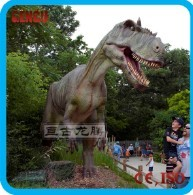 Realistic Life Size Animatronic Mechanical Simulation Dinosaur Sculpture
