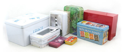 Rectangular Tin Box Storage Container
