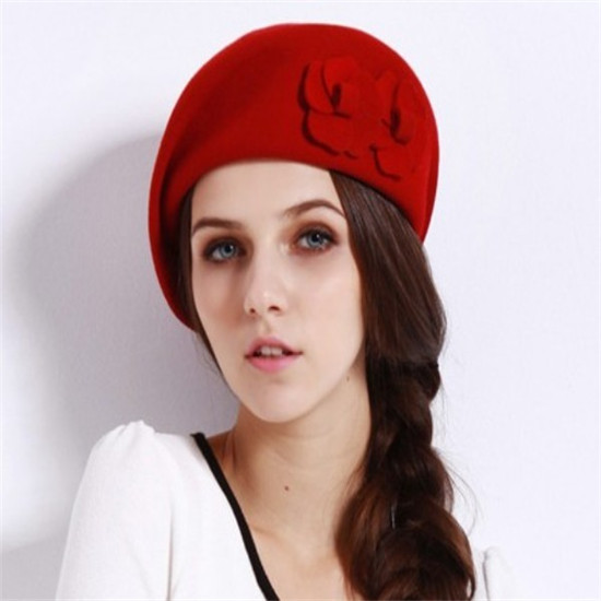 Red High Quality Winter Hats For Girls