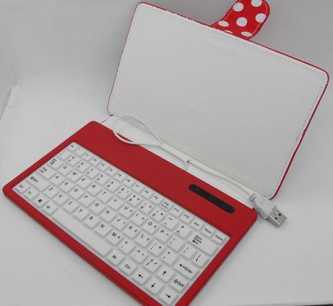 Red Tablets Keyboard Case Cover With Mini B Micro Usb For 7inch Android Pc