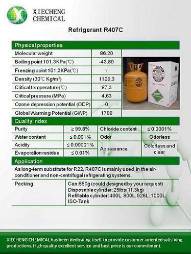 Refrigerant R407c Substitute For R22