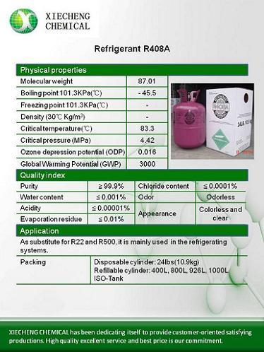 Refrigerant R408a Substitute For R22 And R500