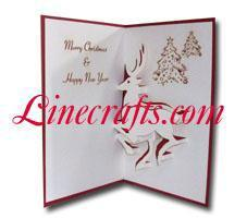 Reindeer Pop Up Christmas Card Code Cn010