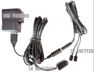 Remote Control Ir Repeater Extender With 1 Receiver 2 Emitter For Av Device