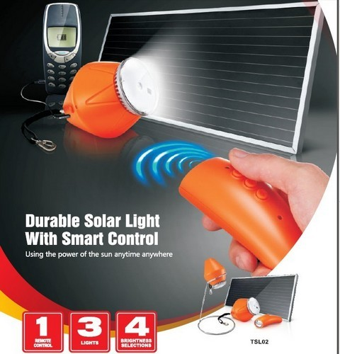 Remote Control Solar Light Phone Charger