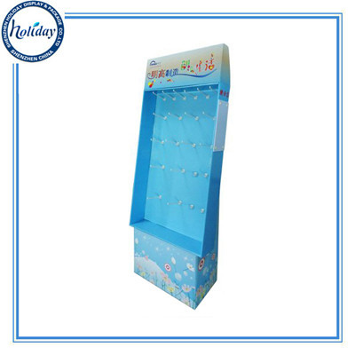 Retail Floor Corrugated Hanging Display Standing Wholesale Customized Stand