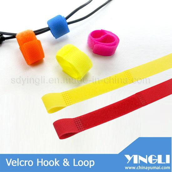 Reusable P Shape Velcro Tape Cable Tie