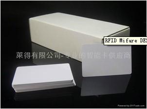 Rfid Mifare Desfire 4k White Pvc Card