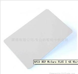 Rfid Nxp Mifare Plus X 4k White Pvc Cards