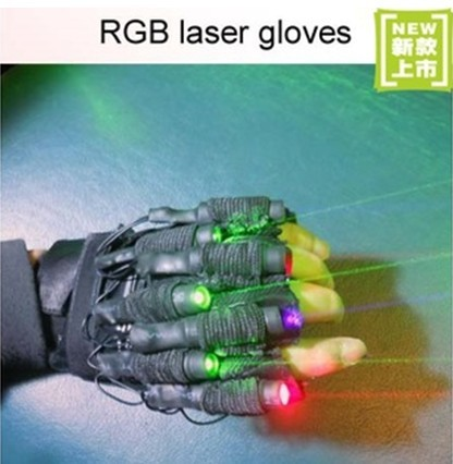 Rgb Laser Gloves With 7pcs Stage For Dj Club Party Show