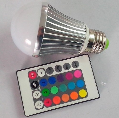 Rgb Led Bulb 5w With 16colors And 6 Functions
