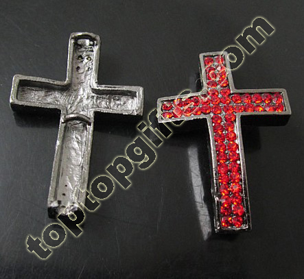 Rhinestone Cross Metal Connection
