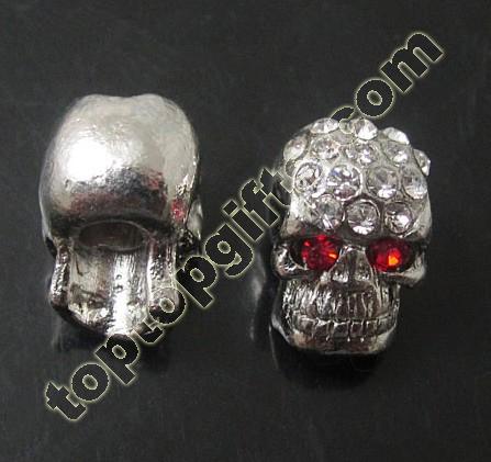 Rhinestone Skull Beads