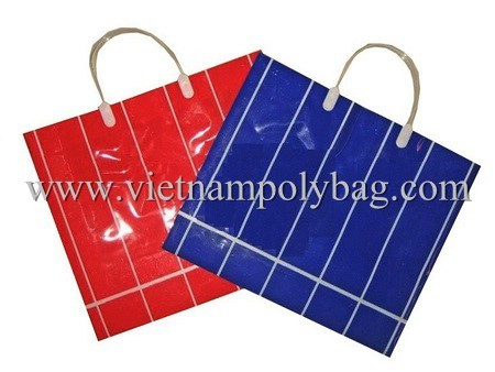 Rigid Handle Plastic Shopper Bag Made In Vietnam
