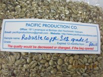 Robusta Coffee Grade A S16, S18 Roasted And Green