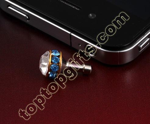 Rondelle Rhinestone Dust Cover Iphone Decoration