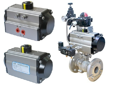 Rotary Pneumatic Valve Actuator Of Pinion And Rack Type