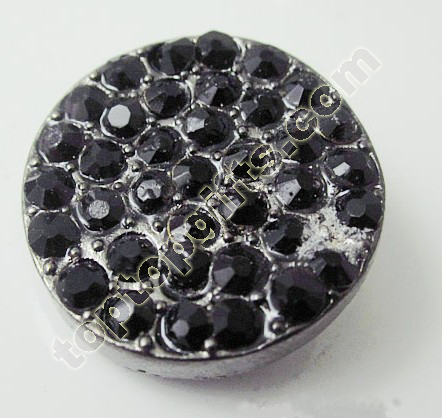 Round Black Rhinestone Button To Milan Fashion Show