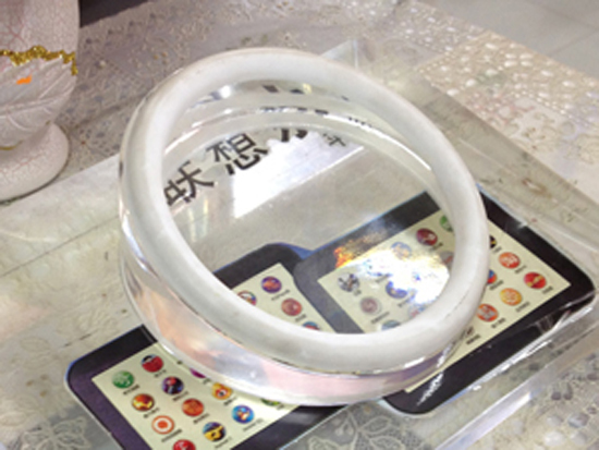 Round Crystal Anti Theft Devices For Tablet Pc Pad Display Irsj000