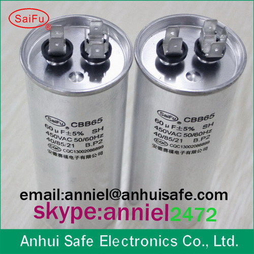 Round Dual Run Capacitor 60 5mfd 440v 450v General Purpose Application And