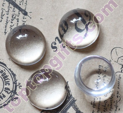 Round Flat Back Glass Zams Cabochon Mounts Mirror Decoration