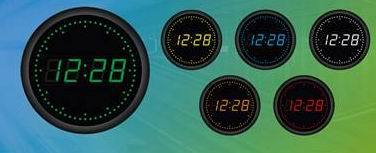 Round Led Decorative Digital Clock
