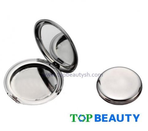 Round Single Well Powder Compact Case With Mirror Tp1011 Tp1012