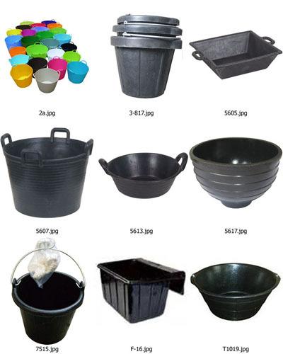 Rubber Bucket Plastic