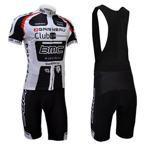 Runtowell Black And Red Bmc Team Cycling Wear