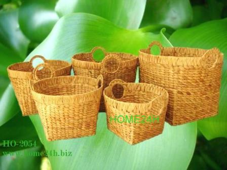 S 5 Water Hyacinth Storage Basket Iron Frame