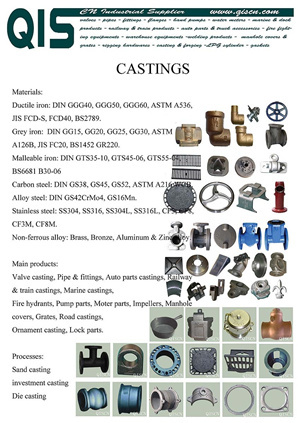 Sand Casting Investment Die Parts