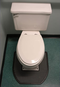Sanitro Toilet Urine Absorbent Odor Removal Mat 6 Mats 22 X 1 4