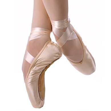 Satin Pointe Shoes Ballet Slipper Dance Wear And
